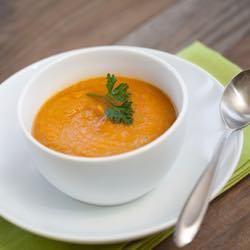 Tekvicová polievka s cícerom
